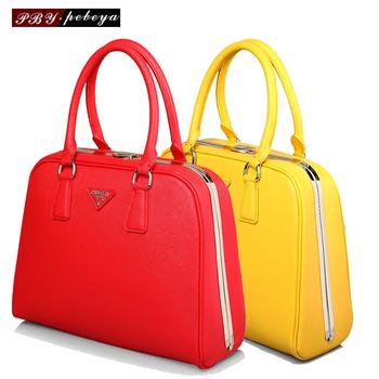 Women's handbag 2012 women's fashion casual bag cowhide female bags pyramide series handbag