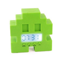 Free Shipping Bluw space alien space alarm clock running derlook