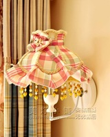 Fashion wall lamp rustic cloth wall lamp lace princess wall lamp bed-lighting lena