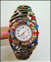 Manufacturers selling diamond bronze retro bracelet watch the coolest folk style hollow decorative table female watches
