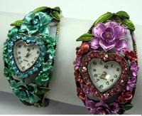 Color fine bronze Diamond Flower Bracelet Diamond exquisite fashion watch color diamond watch