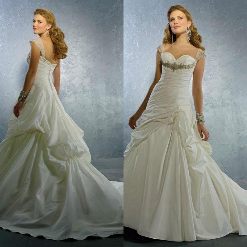 Wedding Dress Plus Size Patterns : Bridal gown pattern wedding dress designer spaghetti strap plus size