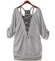 Plus size plus size 2012 AMIO casual loose twinset half sleeve t-shirt,high  quality+low price+free shipping