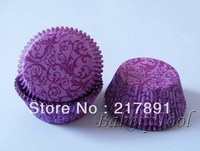 classical purple damask Cupcake Liners,greaseproof paper Baking Cups wholesale, Muffin Cups chocolate cases D:2in H:1.25in