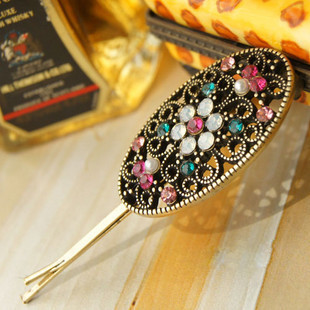 Min. order 12 pieces mix available, Oriental palace stone hair clip,6178.3639.Free shipping