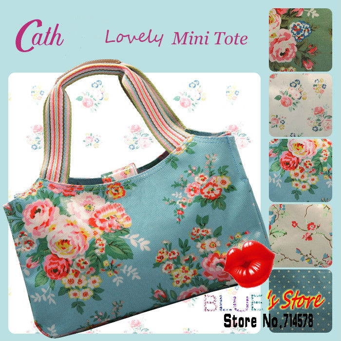 FREE SHIPPING charcoal cath floral tote bag vintage pinny flowers canvas ladies handbag fashion designer college bag for girl(China (Mainland))