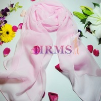 Hrms silk georgette candy color thickening mulberry silk scarf silk pink