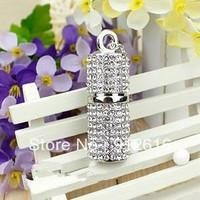 Free Shipping / Crystal cylindrical U disk / jewelry creative boys and girls high-end gift U disk  / USB Flash Drives   U009