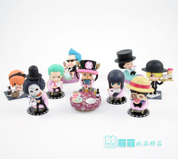 Japanese Anime Cartoon Super Cute One Piece 2 Years Later PVC Action Figures 9pcs/set OPFG181