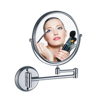 "retractable makeup mirror bathroom magnifier vanity mirror double faced cosmetic mirror 8"" free shipping"