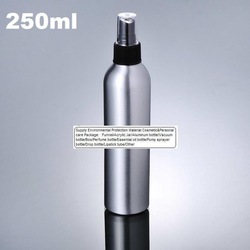 100pcs 250ml Aluminium bottle pump sprayer bottle black pump spray head Aluminum metal bottle spray bottle(China (Mainland))