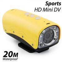 720P waterproof sports HD mini DV camera 5MP camera waterproof deepth 20 meters free shipping