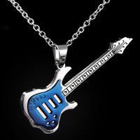 Bass,electric guitar pendant,stainless steel 316L ( titanium steel ) pendant