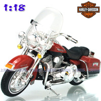 Maisto 1:18 Halley 1999FLHR ROAD KING firefighters alloy motorcycle model free shipping