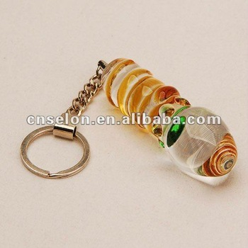 wholesale&retail sex keychain glass dildo for women and men fake penis