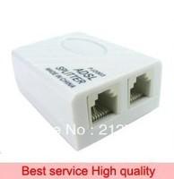 10 Pieces/A Lot Phone Telephone ADSL Modem RJ11 Line Splitter Filter + Free Shipping