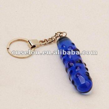 wholesale&retail glass dildo key chain joke sex toys for men and women