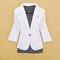 Free Shipping 2015 spring women's fashion three quarter sleeve slim casual outerwear blazer