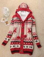 Free Shipping  autumn and winter women fashion slim outerwear medium-long thickening plus velvet long-sleeve cardigan