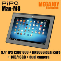 PiPo M8 9.4 inch IPS 1280*800 Android 4.1.1 RK3066 Dual Core Bluetooth 1GB 16GB (external 3G support) special link for Russia