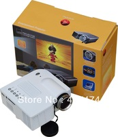 Cheapest Wholesale Mini AV LED Digital Projector VGA AV USB SD 48 Lumens Proyector with Remote Control Free Shipping