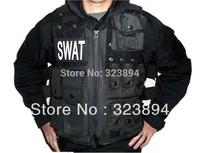 Men's SWAT Police Airsoft Tactical Vest Hunting Combat Vest Sport Hunting Vest Black