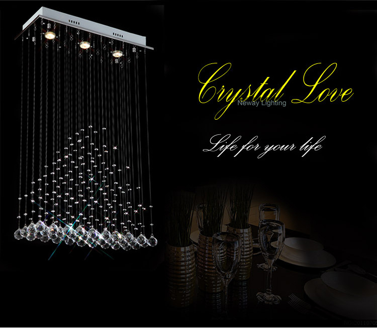 Free Shipping Modern Crystal Ceiling Lamp for Home & Hotel Decoration at Unbelievable Price CL-N001-3(China (Mainland))