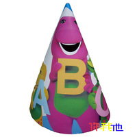 Child party supplies birthday supplies barney cone cap 6