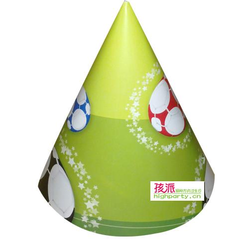 Highparty birthday supplies party supplies football theme birthday cap(China (Mainland))