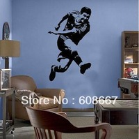 Free shippingWall sticker  Football sports Wall Mural Decal Home Decor Art Wall decor Vinyl J-28