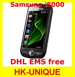 EMS DHL free shipping Original Unlocked Samsung I8000 Omnia II Windows phone 2GB/8GB GPS WIFI Camera 5MP Cell Phones(China (Mainland))