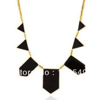 LOSE MONEY High quality Free shipping BigStar style Hilton Love black geometric irregular short charm Necklace Vintage Jewelry