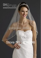 Hot sale  Crystal Edge Elbow Length Bridal Gown Bridal Wedding Veil White -Hot sale