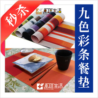 Fashion pvc placemat cropland word lattice check placemats dining table mat coasters heat insulation pad
