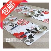 38 fashion pp waterproof mat coasters table mat western pad 8 12 set