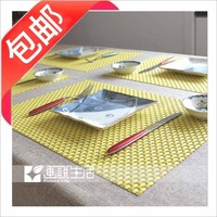 38 fashion two-color pvc placemat coasters dining table mat heat insulation pad western pad slip-resistant pad