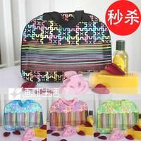 Painting hot-selling fashion multicolour wash bag cosmetic bag storage bag