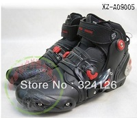 Free shipping motorcycle boots SPEED BIKERS Microfiber leather racing boots SIZE: 40/41/42/43/44/45