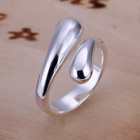 Wholesale! Free shipping! high quality 925 Sterling silver fashion jewelry,  Double Round Head Ring-Opend R012