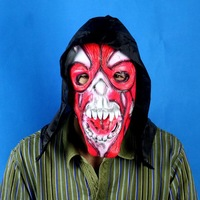 FREE SHIPPING!!!Black cloth red face devil mask
