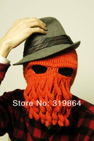 The Beard Man Hand-made Octopus Knitting Wool Hat Beard Cap