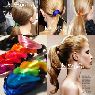 Min.Mix.order $10 Fashion supermode horse twisted neon color wig rubber band hair rope wig headband