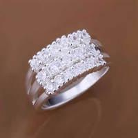 R143 Size:7,8 Wholesale 925 silver ring, 925 silver fashion jewelry, multi-stone Ring /bfvajxcaso
