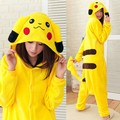 Pokemon cartoons Pajamas Pikachu Ears Zip Hoodie Hoody Cosplay Costume Japen Anime