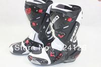 2012 New B1003 motorcycle boots Pro Biker SPEED Racing Boots,Motocross Boots,Motorbike boots wh12 SIZE: 40/41/42/43/44/45 WHITE