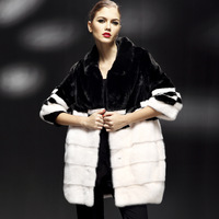 2012 mink marten overcoat Women mink fur coat