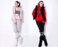 2013 HOT !! THIN SET 3 sport sweater autumn and sprint season good quailty weight 0.9kgs women's sweatshirt cotton 3pcs/set