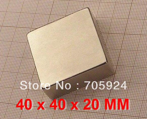 4pcs Neodymium Magnet block N42, 40 x 40 x 20 mm NdFeB Craft Model Powerful Strong Rare Earth Disc NdFeB Magnet F&P *In Stock(China (Mainland))