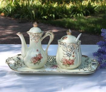 Li Mandi series of the ivory porcelain / ceramic cruet the seasoning cans three-piece combination kitchen tableware