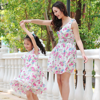 Princess children's clothing summer 2012 clothes for mother and daughter one-piece dress family fashion female child one-piece